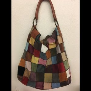 Lucky Brand Patchwork Leather Hobo